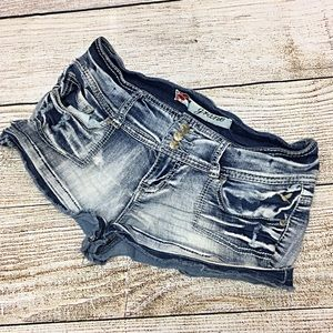 Women's Grane Distressed Jean Shorts Sz 11 Jrs